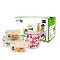 Bộ 5 hộp nhựa bảo quản thực phẩm Neolock Lock&Lock NLP110S001 (2 hộp 630ml, 1 hộp 750ml, 1 hộp 1300ml, 1 hộp 2400ml)