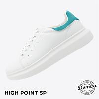 Giày Domba gót nhung xanh lam H-9020