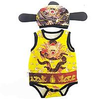 Bộ Bodysuit Tết Cho Bé Hình Vua Rồng Vàng - Mihababy - BDS_VUA