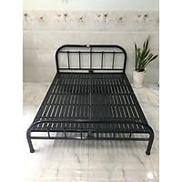 Giường sắt cách điệu đầu giường màu đen nhiều kích thước mẫu 14