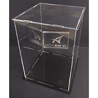 Hộp mica trong 14x14x20cm bày mô hình lắp ghép