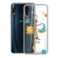 Ốp lưng Dẻo cho điện thoại Zenfone Max Pro M2 - 01219 8049 LIBRA 01 - In Nổi Họa Tiết - Cung Thiên Bình - Hàng Chính Hãng