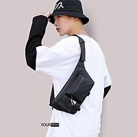 Túi đeo chéo nam thời trang chống nước màu đen túi đeo vai đeo hông bao tử trước ngực cao cấp hiện đại chống mưa chống nhăn xước bám bụi thông dụng dễ phối đồ họa tiết trơn sang trọng