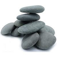 1kg đá sỏi đen viên lớn trang trí sân vườn, bể cá, chậu cây, chặn giấy trên bàn