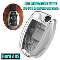 Remote Key Cover Fob Case Shell For Mercedes B C E S R M GLA GLK GLS Class (Silver)