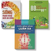 Sách - combo 3 cuốn Chữa bệnh bằng luân xa 88 Bí quyết sống khỏe Sống khỏe mạnh nhờ ăn uống