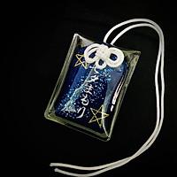 (Ngôi sao xanh) Túi gấm Omamori may mắn có kèm túi chống nước Túi Phước May Mắn Omamori tặng đá muối