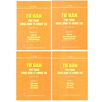 Sách Combo Bộ Tư Bản - Phê Phán Khoa Kinh Tế Chính Trị Các Mác (Karl Marx) ) - Trọn Bộ 4 Quyển