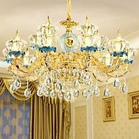 Đèn chùm ALACA pha lê trang trí nội thất sang trọng 15 tay - kèm bóng LED chuyên dụng