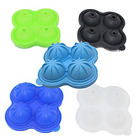 silicone Ice Cube Tray Mold With Clear Cover Summer 4 Grids Ice Cream Maker