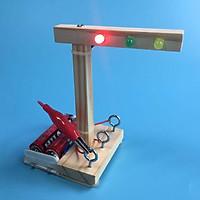 Stem - Đồ Chơi Lắp Ghép Đèn Giao Thông Bằng Gỗ Theo Phương Pháp Giáo Dục Stem Steam
