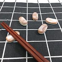 Bộ 5 chiếc Gác đũa Xà Cừ Nâu hồng hình hạt Mít Mini 2,5cm - Phụ kiện  giúp bàn ăn sang trọng (R4)