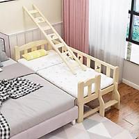 Giường gỗ, giường trẻ em quây 4 mặt có cầu thang size 128*60*40 chất liệu gỗ thông