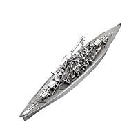 Mô hình thép 3D tự ráp tàu chiến Bismarck Battleship