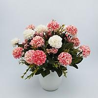 Bình hoa lụa trang trí phòng khách, bình hoa giả để bàn, bình hoa cẩm tú cầu mini