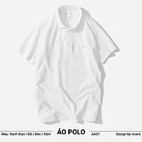 Áo Phông Nam Có Cổ Trơn 100% Cotton Cao Cấp Tay Ngắn Polo ZERO