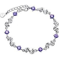 Lắc Tay Xoắn Điểm Đá (Alloy Silver) Showfay Jewelry