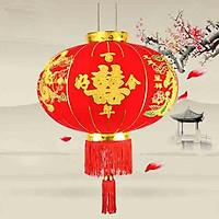 Đèn Lồng Vải Nhung Treo Tết Lễ Hội Size 60cm 80cm 100cm