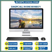 """Máy tính All In One SingPC M19B571 (Intel G5900, 4GB DDR4, SSD 128GB, LAN, WiFi, Bluetooth, Loa, Camera 2.0M, 18.5"""" LED, Free DOS) - Hàng Chính Hãng"""