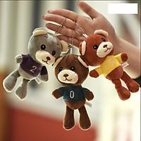 Gấu bông kèm móc treo Gấu mặc áo chữ số - 1 màu - màu ngẫu nhiên