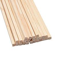 10 thanh gỗ thông vuông kích thước 1cm nhiều kích thước làm mô hình, thủ công, đồ chơi, trang trí