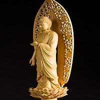 Decor trang trí - tượng quan âm (set 3 tượng)