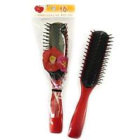 Bộ 2 Lược chải tóc chống xơ rối, giảm gãy rụng (màu đỏ) - Hàng nội địa Nhật