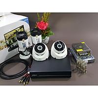 Bộ KIT Camera Dahua CVI vỏ nhựa: 1 đầu ghi + 2 mắt thân trụ + 2 mắt gắn trần Hàng chính hãng