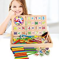 Đồ chơi gỗ Bảng học toán thông minh 2 chữ số cho bé tập tư duy
