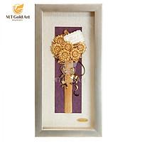 Tranh Hoa Hướng Dương ( 13×26 cm) MT Gold Art- Hàng chính hãng, trang trí nhà cửa, phòng làm việc, quà tặng sếp, đối tác, khách hàng, tân gia, khai trương