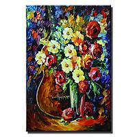 Tranh trang trí bó hoa sặc sỡ Thế Giới Tranh Đẹp LCV40-23