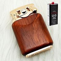 Combo Bật Lửa Xăng Đá Chief vỏ gỗ CF 018-30 + Bình Xăng Thơm Chuyên Dụng Cho Bật Lửa (Màu Ngẫu Nhiên)