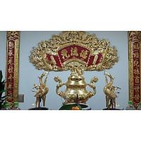 Cuốn thư câu đối bằng đồng đẹp giá sỉ cao 1m35 , ngang 1m35, Mã SP CT135 - Đồ Thờ Thắng Duyên Đại Phát.