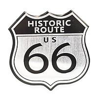 Sticker hình dán Metal Route 66 Huyền Thoại