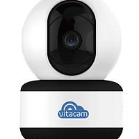 Combo Camera IP Giám sát Vitacam C1080 2mp Full HD và Thẻ Nhớ Sandisk 32Gb Class 10  (Camera quay quét theo chuyển động) - Hàng Chính Hãng