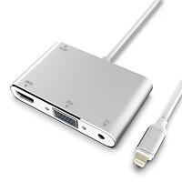 Cáp HDMI cho iPhone, iPad ra tivi HDMI, VGA có audio Full HD 1080p - Cáp lightning to HDMI, VGA LG-1600 tặng cáp hdmi 1,5m  - Hàng nhập khẩu
