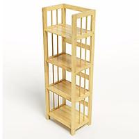 Kệ sách 4 tầng rộng màu gỗ tự nhiên 40cm