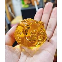 Chú Heo bằng đá lưu ly phong thủy size 5cm (chọn màu) - Sung túc - Tài Lộc - Bình An