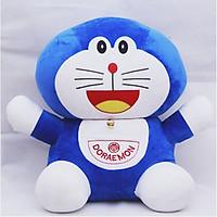Gấu bông cao cấp Doremon mèo máy  đeo chuông ngộ nghĩnh - Size lớn