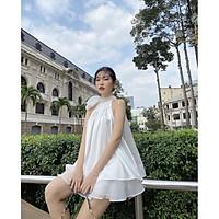 Sale: Set áo cổ yếm quần váy - Size M