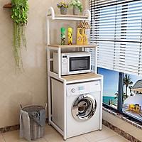 Kệ máy giặt 3 tầng cửa trước KMG02, khung thép dày dặn sơn tĩnh điện chống bong tróc, gỗ lõi xanh phủ melamine chống nước cực bền, tiết kiệm không gian,Sản xuất tại Việt Nam