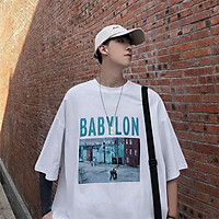 2 Color【M-3XL】Summer New Style Fashion Photo Printed Graphic Short Sleeve T-shirt Men Breathable Unisex Half Sleeve T-shirt Oversize Student Short T-shirt Couple Wear
