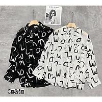 áo nữ sơ mi chữ dài tay chất đũi lụa siêu xinh