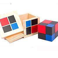 Hộp nhị thức Binomial Cube Giáo cụ Montessori