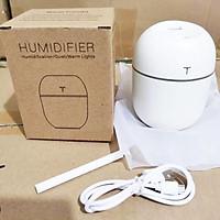 Máy phun sương khuếch tán, máy xông tinh dầu, lọc không khí, tạo độ ẩm không khí dung tích 200ml có cổng cắm USB và sạc