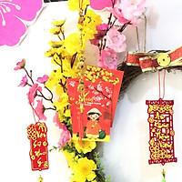 Vòng hoa mai hoa đào trang trí tết H08