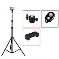 [TRIPOD] Cây Livestream Selfiecom - Hỗ trợ chụp ảnh, quay video, chơi tiktok, gắn đèn livestream - Tặng kèm remote bluetooth chụp ảnh- Hàng chính hãng