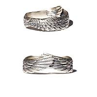 Nhẫn Thép titan đeo tay hình cánh chim nam nữ phong cách độc đáo-N016