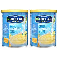 Combo 2 hộp BỘT ĂN DẶM  RIDIELAC GOLD GẠO SỮA -  HỘP THIẾC 350G