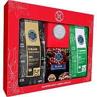 """[Giao Nhanh 2H] HỘP TÌNH YÊU """"LOVE BOX 1"""" (Phin nhôm, Cà phê rang xay K-Black, K-Morning và Cà Phê Hòa tan 2in1)"""